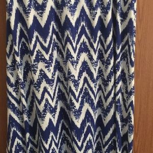 Blue and white Maxi skirt!